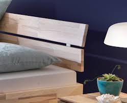 Schlafzimmer Bett M El Martin Sockelbett Aus Heller Kernesche Mit Bettkasten Partido