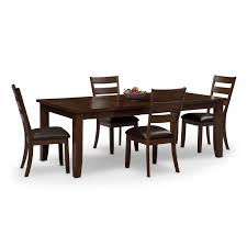 Dining Room Sets 4 Chairs Abaco Table And 4 Chairs Brown American Signature Furniture