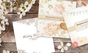 wedding invitations groupon personalised wedding invitations groupon goods