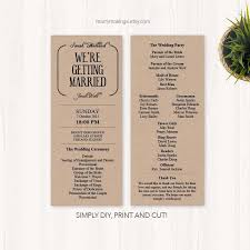 Diy Wedding Programs Templates Diy Wedding Program Wedding Programs Program Wedding Printable