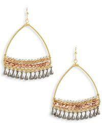 Nakamol Czech Crystal Beaded Chandelier Lyst Shop Women U0027s Nakamol Earrings From 30 Lyst Page 7