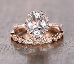gold art rings images Oval aquamarine diamond halo engagement ring rose gold art deco jpg