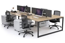 Office Workstation Desk Modern Office Workstation Desk For 4 Litewall Evolve