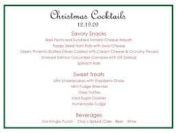 christmas cocktails invite christmas open house menu lizardmedia co