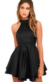 cute black dress off the shoulder dress lbd skater dress