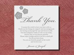 wedding gift quotes wedding reception thank you place setting card thank you quotes