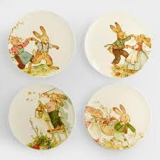 Vintage Halloween Plates by Nestler Vintage Style Bunny Plates Set Of 4 World Market