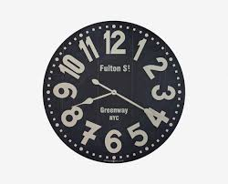fulton st oversized wall clock u2013 daniafurniture com
