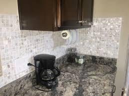 groutless kitchen backsplash interior diy of pearl backsplash for your kitchen