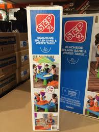 sand and water table costco costco 952789 step2 beachside splash sand water table back