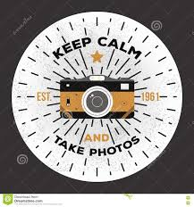 keep calm and take photos vector photography logo template to use