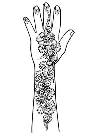Tatouage bras et main 1  Tatouages  Coloriages difficiles pour adultes