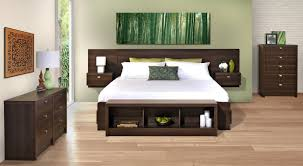 headboard with bed frame prepac designer bed floating headboard with nightstands bed