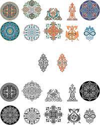 10 russian decorative ornaments vectorific