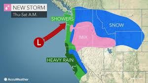 Western Us Map Wet Windy Weather To Return To Western Us