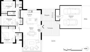 plan de maison plain pied 3 chambres avec garage plan maison moderne de plain pied 3 chambres ooreka avec plan maison