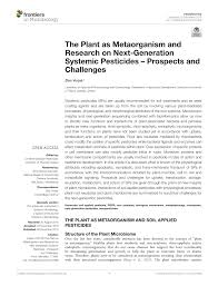 the plant as metaorganism and research on next generation systemic