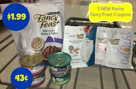 new fancy feast coupons dry cat food only 1 99 more cat food