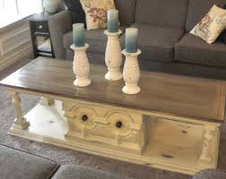Stained Coffee Table White Coffee Table Etsy