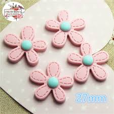 hair bow center baby pink flower cabochon resin flatback for scrapbooking hair bow