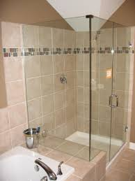 Bathrooms Showers Inviting Small Bathroom With Shower Designs Taking Glass Door With
