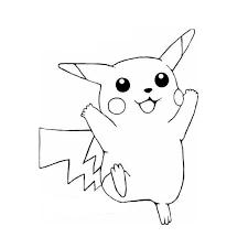 dessin pikachu et sacha a imprimer