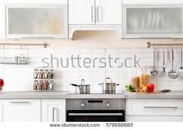 kitchen interior photo modern kitchen interior stock photo 579690727