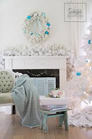 White Christmas House Decor by Christmas Decorating Of The Bedroom In Blue Shabbyfufu