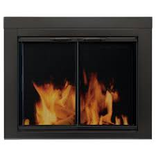 pleasant hearth alpine small glass fireplace doors an 1010 the pleasant hearth alpine small glass fireplace doors