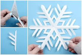 How To Make A Snowflakes Out Of Paper - how to make an origami snowflake