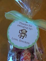 12 monkey shower party favor bag tags 9 00 via etsy work