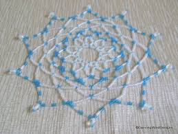 free seed bead ornament patterns turquoise and white handcrafted