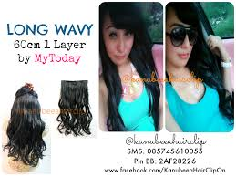 hair clip rambut asli hair clip bahan fiber hair clip murah