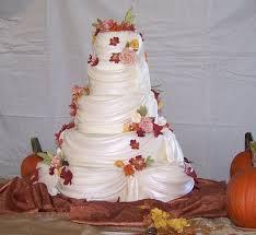 Wisconsin Drapery Supply Wedding Cakes Drapes Fall Leaves Roses Tamara U0027s Cakes Oshkosh