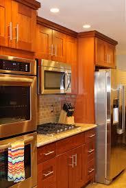 kitchen dazzling natural cherry shaker kitchen cabinets gorgeous