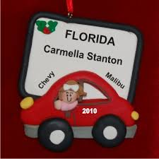 personalized new car for ornament