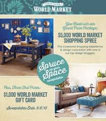cost plus world market friends u0026 family sweepstakes enter for a