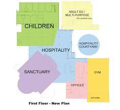 interior floor plans new interior floor plans first united methodist church of allen