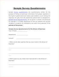 4 sample survey questionnairereport template document report