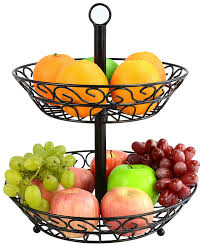 surpahs 2 tier countertop fruit basket stand kitchen