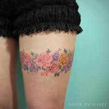 flower garter for lily iristattooart tattoo tattoos