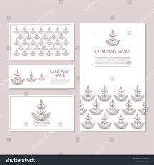 Invitation Business Cards Set Business Card Invitation Card Templates Stock Vector 259552859