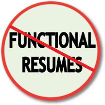 functional resume sles for career change career changers avoid functional resumes resumepower