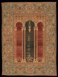 ballard ottoman prayer carpet with triple arch design the