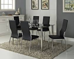 breathtaking black glass dining room table pictures best image