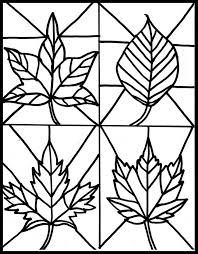 fall leaf printable coloring home