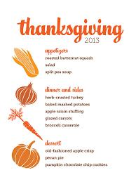 thanksgiving thanksgiving dinner menu recipes traditional list