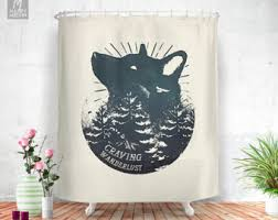 Shower Curtains Unique Wolf Shower Curtain Etsy