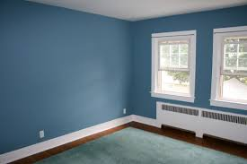 Blue Accent Wall Bedroom by Blue Paints Inspire Home Design