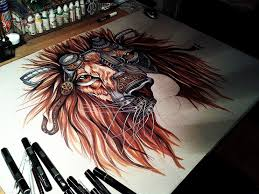 mongoua tk sketched lion